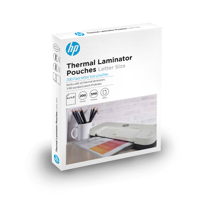 HP Pouches 200, letter size thermal laminating pouches